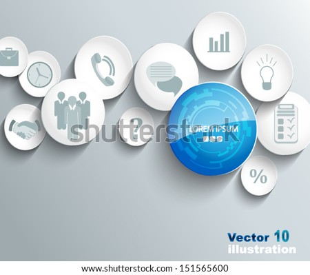 Business icons background - stock vector