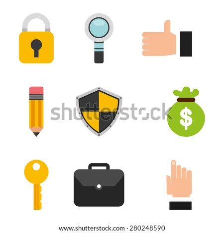 business icons design, vector illustration eps10 graphic  - stock vector