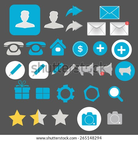 Business icons for web