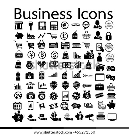 Business Icons illustration design