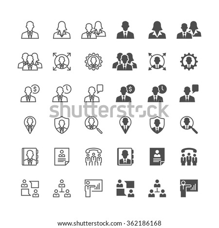 Business icons, included normal and enable state. - stock vector