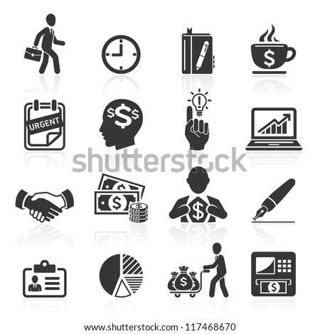 Business icons, management and human resources set4. vector eps 10. More icons in my portfolio. - stock vector