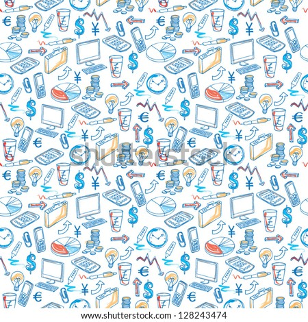 Business icons seamless vector