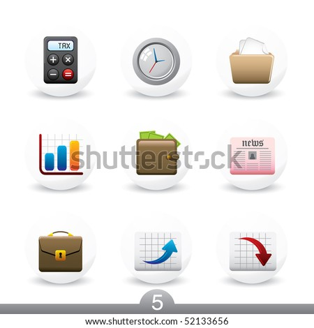 Business icons...series 5 - stock vector