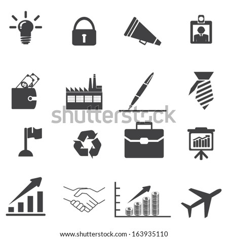 Business Icons set 2 - stock vector