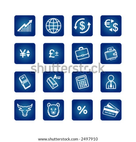 business icons set - stock vector
