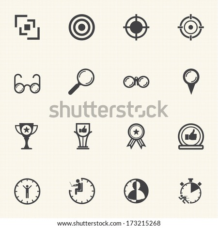 Business icons set for Leadership concept. Vector - stock vector