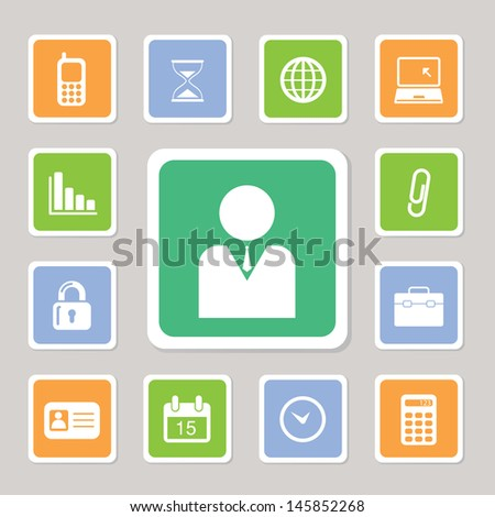 Business icons set for use - stock vector