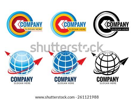 Business icons set, logo design, abstract logo - Vector Illustration - stock vector