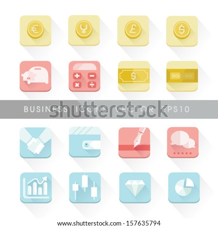 Business icons set vector - stock vector