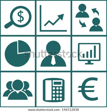 Business icons set.Vector EPS10 - stock vector