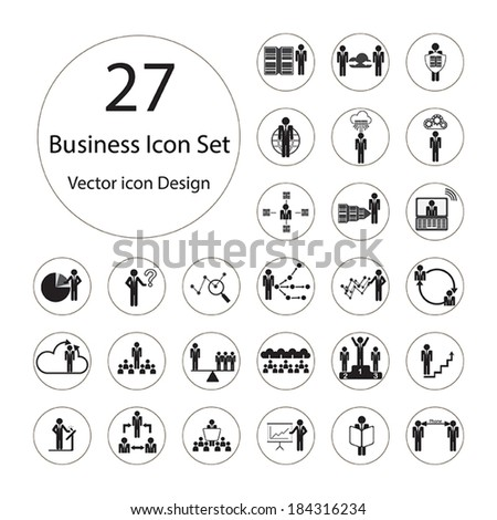 Business icons set.Vector illustration. - stock vector