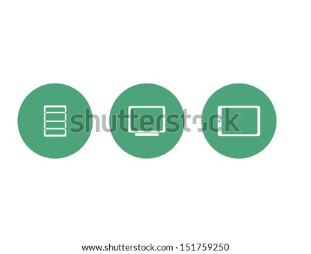 Business Icons Tech - stock vector