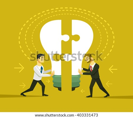Business idea. Vector flat cartoon illustration