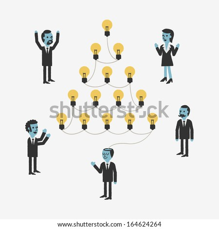 Business Ideas - stock vector
