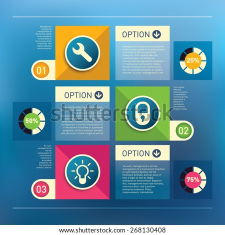 Business info-graphic design. Vector illustration. - stock vector