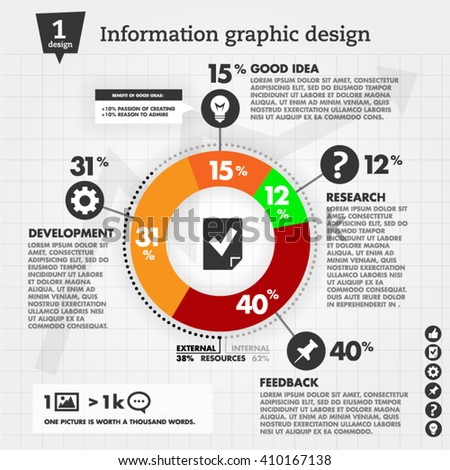Business Info-graphics concepts with  circle and icons - vector illustration. - stock vector