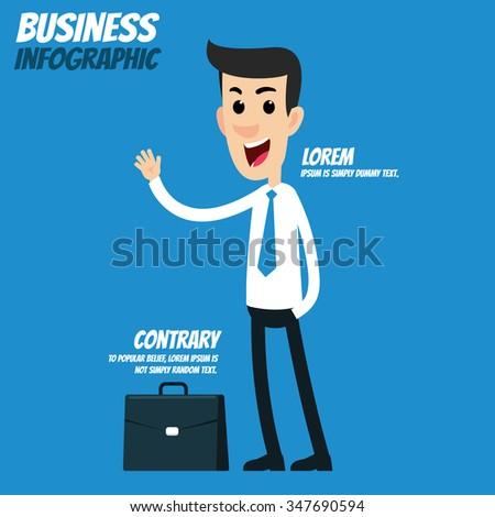 Business infographic - Businessman  - stock vector