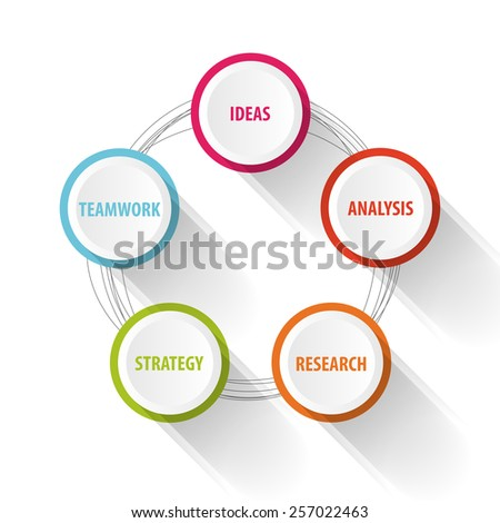 Business Infographic concept. Success. Vector