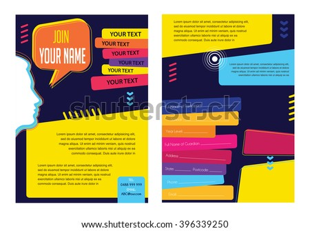 Business infographic concept vector layout for presentation, booklet, website and other design project. Social media speech bubbles infographic template. Vector icons set. Infographic color poster. - stock vector