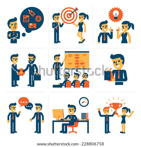 Business Infographic Elements - stock vector