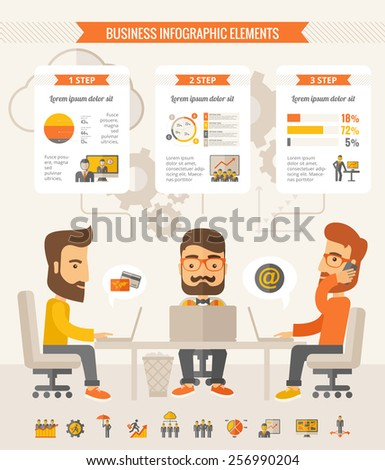 Business Infographic Elements. - stock vector
