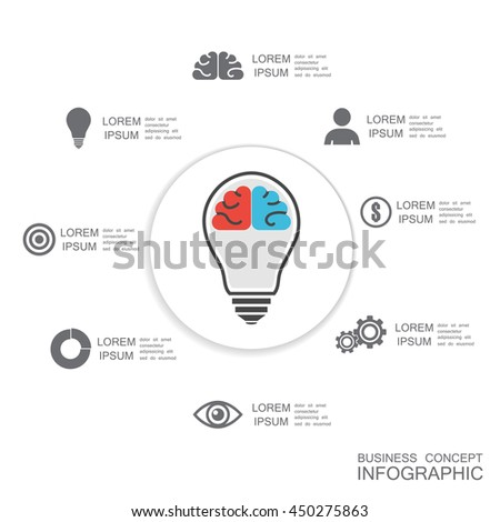 business infographic, isolated on white background