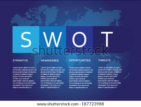Business Infographic ,Swot - stock vector