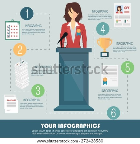 Business infographic template - stock vector