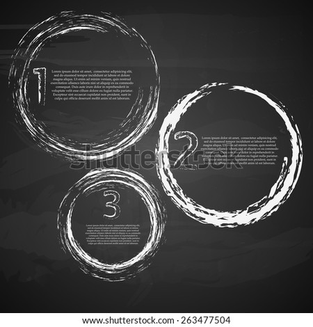 Business infographic template. Chalkboard effect. Vector illustration. - stock vector