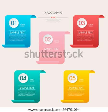 business infographic template design with step lable elements.can be used for workflow layout, diagram, number options, web design.  illustration ,EPS10 - stock vector