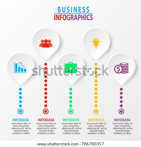 Business infographic template for presentation, graph, brochure, chart, business concept, web-cites, reports.
