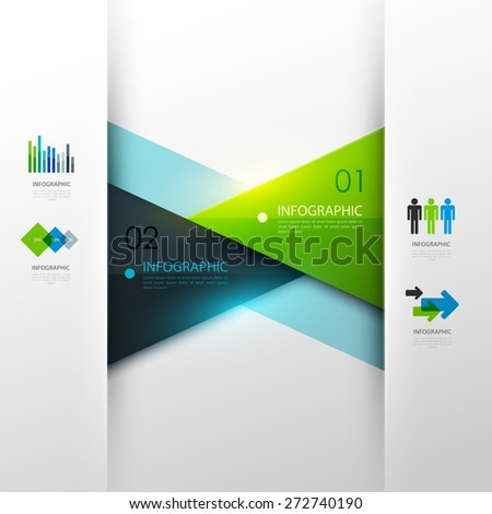 Business infographic template. Vector illustration.  - stock vector