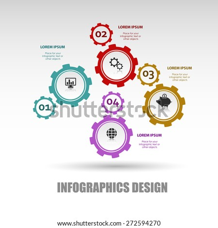 Business infographic template. Vector illustration. Can be used for layout, banner, diagram, web design. - stock vector