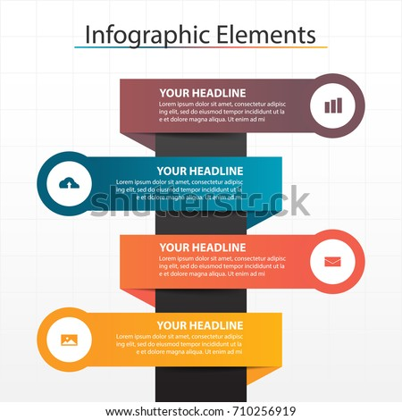 Business Infographic Timeline Process Chart Template Stock Vector