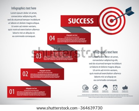 Business infographics concept -EPS10 vector - stock vector