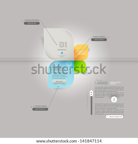 Business infographics  design template with icons - stock vector