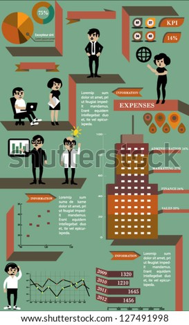 Business infographics elements - stock vector