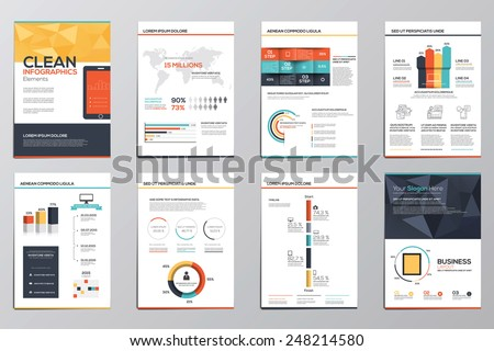 Business infographics elements for corporate brochures and flyers. Vector - stock vector