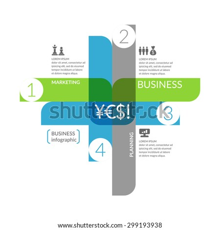 Business infographics. Icons and illustrations for design, website, infographic, poster, advertising. - stock vector