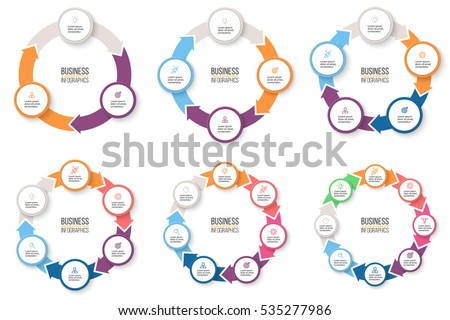 Business infographics infographic elements 3 4 em vetor stock infographic elements with 3 4 5 6 7 ccuart Images