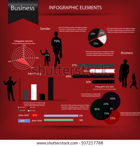 Business infographics set. Vector - stock vector