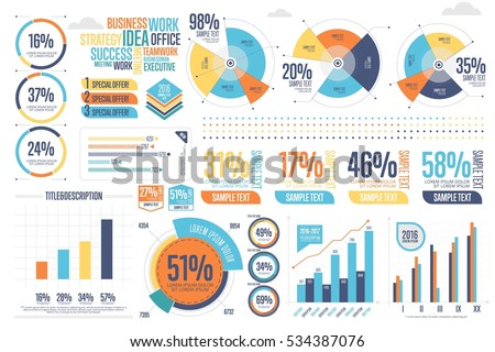 Business infographics set different diagram vector stock photo business infographics set with different diagram vector illustration data visualization elements marketing charts and publicscrutiny Choice Image