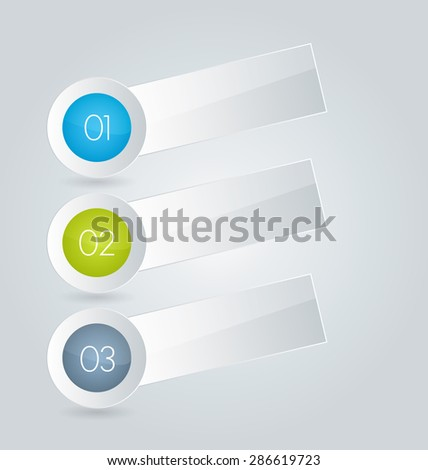 Business infographics template for presentation, education, web design, banners, brochures, flyers. Blue and green tabs. Vector illustration.