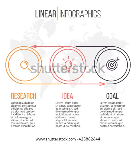 Business infographics. Timeline with 3 steps. - stock vector