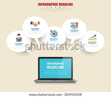 business infographics with icons set. vector. illustration. - stock vector