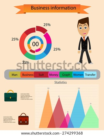 Business information info graphic vector. - stock vector