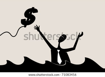 Business. Investment. Help - stock vector