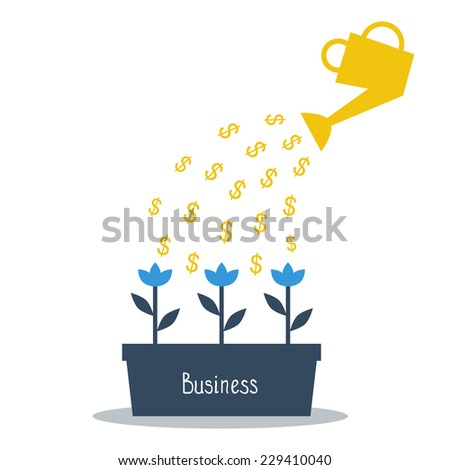 business investments concept - stock vector