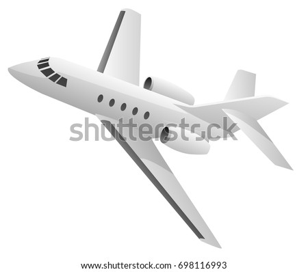 Business Jet Aircraft Vector Illustration